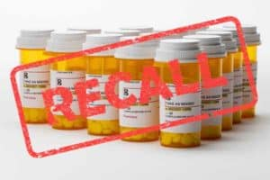 Bottles of medicine from Valsartan recall lawsuit